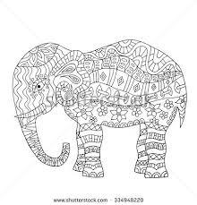 vintage graphic vector indian lotus ethnic stock vector 397239985