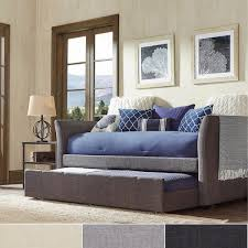 deco linen rolled arm daybed and trundle by inspire q bold free