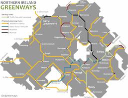 England Train Map by About U2013 Northern Ireland Greenways