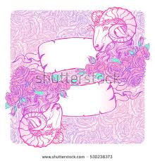 horizontal banners zodiac aries decorative frame stock vector
