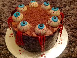 chocolate u0026 raspberry halloween eyeball cake u2013 baking fanatic