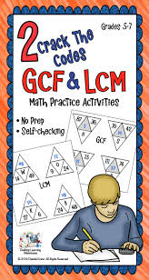 least common multiple and greatest common factor worksheets
