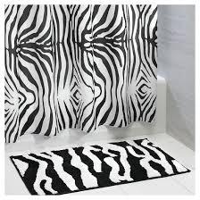 zebra bath rug 34x21
