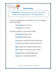 grade 3 grammar topic 18 contractions worksheets lets share