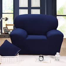 Single Seater Couch Solid Color Tight All Inclusive Slipcover Stretch Fabric Elastic