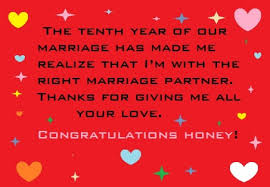 Wedding Day Wishes For Husband Happy 10th Year Wedding Anniversary Wishes And Quotes Hubpages