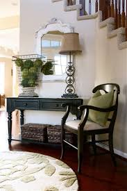 Entryway Table With Baskets Furniture Mesmerizing Small Entryway Table With Armchair And