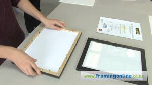 Mounting Posters Without Frames How To Frame A Picture Without A Mat Youtube
