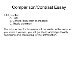 sample thesis statement for compare and contrast essay resume comparison contrast essay sample resume daily writing portfolio with mr butner ppt resume comparison contrast essay sample