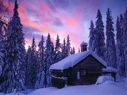 winter sky winter house trees nature blue snow beautiful clouds