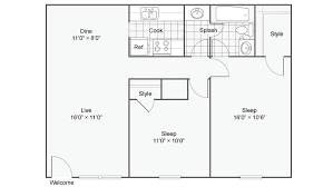Two Bedroom Floor Plan Baton Rouge Apartments Near Lsu The Hub At Baton Rouge Apartment