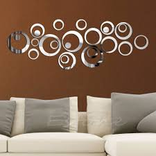 home decor wall mirrors 1pc sticker fashion circles mirror style removable decal vinyl art