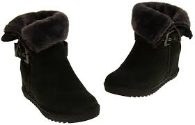 womens size 12 fur lined boots keddo faux fur lined wedge winter ankle boots sizes