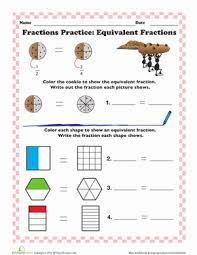 finding equivalent fractions worksheet education com