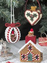 plastic canvas ornaments teddy