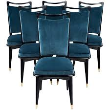 mid century modern french dining room chairs jean marc fray