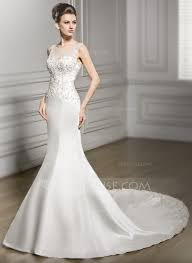 wedding dress mermaid trumpet mermaid scoop neck chapel satin lace wedding dress
