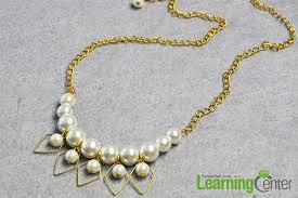 necklace making with pearl images How to make pretty pearl beaded chain necklace for wedding jpg