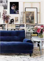 deep blue velvet sofa currently obsessing velvet blue sofas my manicured life