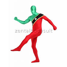 lycra around the world full body fashion flag zentai suits