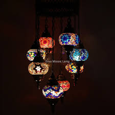 Handmade Chandelier by Handmade Turkish Moroccan Style Mosaic Hanging Lamp Ceiling Light