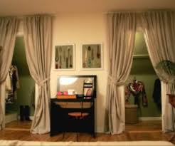Curtains As Closet Doors 5 Ways To Use Fabric Doors In Your Home