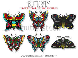 vector butterfly mole traditional designs stock vector