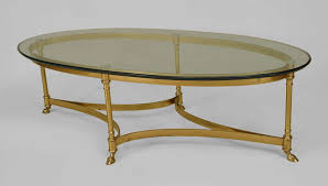 Oval Glass Top Coffee Table Oval Glass Coffee Table Facil Furniture