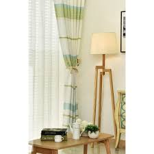 Lime Green Striped Curtains Green Horizontal Striped Print Linen Cotton Custom Patio Door Curtains