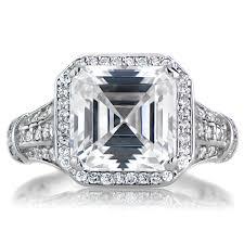 asscher cut diamond engagement rings estate style asscher cut engagement ring