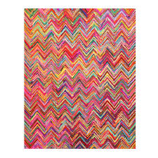 Large Chevron Rug This Stylish Hand Tufted Cotton Rug Features Elegant Colors Like