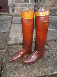 boot trees uk pair vintage brown leather boots trees 254640