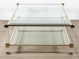 coffee tables attractive square acrylic coffee table home design