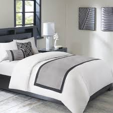 decorative pillows bed luxury grey black white bed scarf runner and 2 decorative