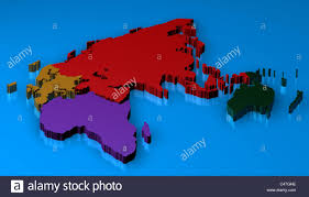 World Map Africa by World Map 3d Render With The Different Continents Africa Europa
