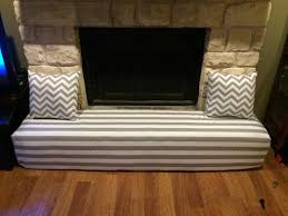 fireplace cover child proofing the stone hearth gray and white