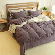 Cheap Purple Bedding Sets 60 Linen 40 Cotton Bedding Set King Size Bed Linen Bedclothes