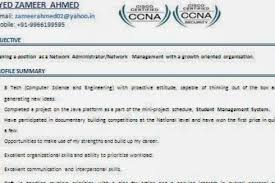 Ccnp Resume Sample For Freshers by Sample Ccna Resume Entry Level Network Technician Manoj Level Ccna
