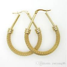surgical stainless steel earrings brand new fashion design surgical stainless steel twist wire mesh