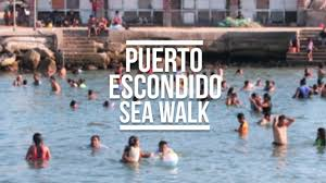 puerto escondido sea walk mexico travel vlog eileen aldis