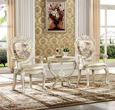 0038 european classic dining room furniture royal wood dining solid wood living room furniture royal chair and small round