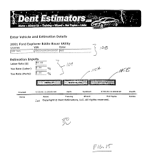 patent us20040073434 automobile repair estimation method