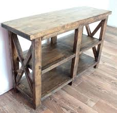 rustic x console table ana white rustic table white sofa table and white rustic x console
