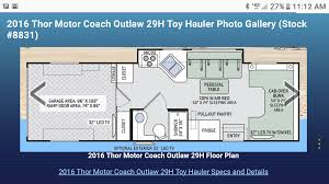 2016 thor motor coach outlaw motor home class c rental in