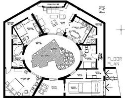 earth contact home plans earth sheltered atrium home plan