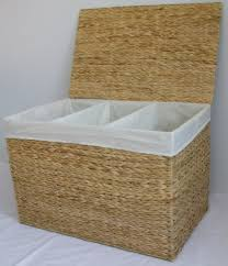 stylish laundry hampers wicker divided laundry hamper for touch of personality