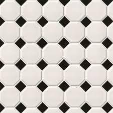 white and black matte octagon backsplash tile white tile collection