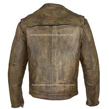 mens leather biker jacket mens distressed brown leather motorcycle jacket with diamond