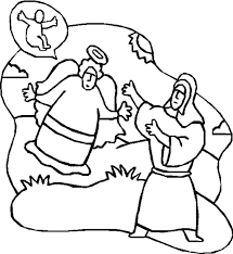 drawing an angel appears to mary coloring pages drawing an angel