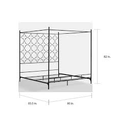 Black King Canopy Bed Quatrefoil King Canopy Bed Free Shipping Today Overstock Com